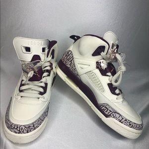 Shoes - Brand New Sail Bordeaux Jordan Spizike Size 5.5Y